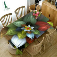 Witchford Plant 3D Tablecloth Table cover Cloth Rectangle Wedding Party Banquet
