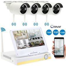 10.1'' LCD 4CH HD 720P WIRELESS OUTDOOR IP CAMERA NVR CCTV SECURITY SYSTEM KIT