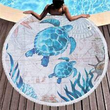 Grande Toalla de Baño para Adultos Playa Grueso 150cm Redondo Microfibra Turt