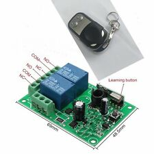 433MHz 2CH DC12V RF Remote Control Switch Button Transmitter & Receiver