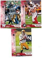 2018 Upper Deck CFL Red Parallel Pick from List to Complete Set/Collection /150