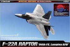 Academy F-22A RAPTOR 94th FS Langley AFB Plastic Model Kit Military 1/72 12527