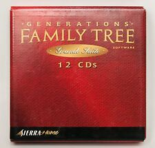Sierra Home Generations Family Tree Software Grande Suite 12 CDs PC Windows 1998