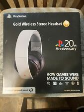 20Th Anniversary Sony Playstation Gold Wireless Stereo Headset Limited Edition