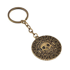 Pirates Of The Caribbean Bronze Medallion Keyring