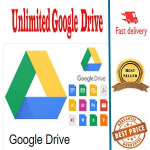 <UNLIMITED> #STORAGE GOOGL'E DRIVE  (10 sec Fast delivery)