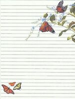 Butterfly Designed Lined Stationery Writing Paper Set, 25 sheets & 10 envelopes