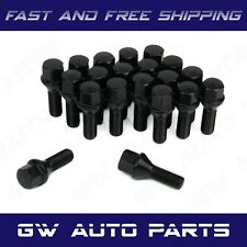20 PCs Black M14x1.5 Lug Bolts 24mm Shank Conical Seat Wheel Lug Bolts
