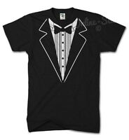TUXEDO Funny Tshirt Fancy Dress Birthday Bow Tie Joke Novelty Suit Gift Present