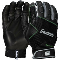 Franklin Sports MLB 2nd Skinz Baseball Batting Gloves Black