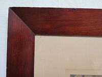 ANTICA CORNICE IN LEGNO DI MOGANO 57,5x49 CM CON STAMPA VINTAGE WOOD FRAME R111