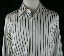Kenneth Cole New York Woven With Stripe Mens Large Dress Shirt New With Tag