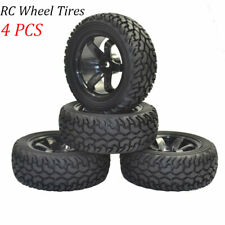 4Pcs 1:10 1:16 RC Rally Car Rubber Tires & Wheels Rim for HSP HPI On Road Car