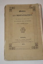 HISTOIRE DE LA RESTAURATION BOURBONS 1831 TOME 2