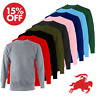 New Mens Sweatshirt Plain Fleece Sweat Top Pullover Crew Neck Jumper Work Jersey