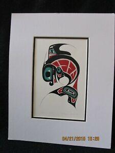 Killer Whale, Danny Dennis Art Card Tsimshian Northwest Coast signed by Dennis