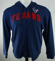 Houston Texans NFL Men's Navy Blue Embroidered Full-Zip Hoodie