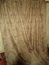 CROSCILL BROWN UMBER PAISLEY DAMASK (PAIR) UNLINED DRAPERY PANELS 56 X 88 TUSCAN