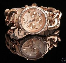 Original Michael Kors Uhr Damenuhr MK3247 RUNWAY TWIST Farbe:Rose Gold NEU