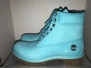 Timberland 6 Inch Premium Waterproof Tidepool Blue  Boots Men's Size 11 or 11.5