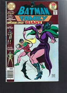BATMAN FAMILY  8 BATGIRL - CATWOMAN - GIANT -   BRONZE  AGE    DC COMICS