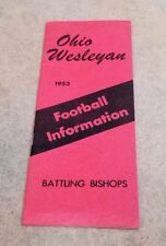 OHIO WESLEYAN COLLEGE FOOTBALL MEDIA GUIDE - 1953 - EX+ SHAPE