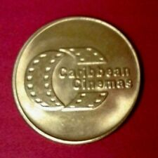 Ficha CARIBBEAN CINEMAS Arcade game Amusement token only in PUERTO RICO Theaters