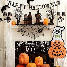 Cn _ Mignon Potiron Fantôme Tenture Murale Porte Fenêtre Décor pour Halloween