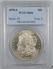1878-S Morgan Silver Dollar PCGS MS66  No Reserve Auction - 99C Opening Bid