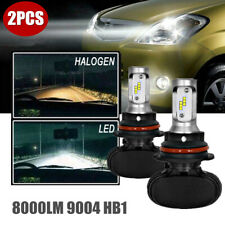 A Pair 9004 HB1 LED Headlight Kit for Dodge Ram 1500 2500 3500 Hi Low Beam 6000K
