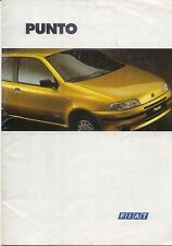 Fiat Punto 55 60 75 90 TD Cabriolet GT 1994-95 original UK Sales Brochure