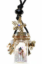 KIRKS FOLLY SNOWMAN IN A BOTTLE PENDANT NECKLACE GOLDTONE