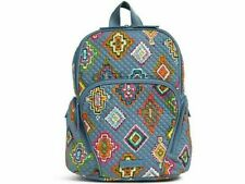NEW Vera Bradley Diamond Quilted HADLEY Backpack PAINTED MEDALLIONS Aztec Multi