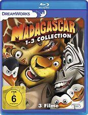 MADAGASCAR 1-3 COLLECTION (3 Blu-ray Discs) NEU+OVP