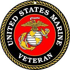 "United States Of America Marine Corp Veteran Round Military USA Metal Sign 11.5"""