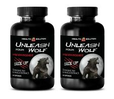 pills for men for sex - UNLEASH YOUR WOLF - maca in capsules - 2 Bottles (120 )