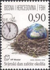Bosnie Herzégovine 2016 environnement Jour/Nature/Horloge/conservation 1 V (b2756v)