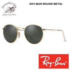 Occhiali Da Sole Ray-Ban Round Metal RB3447 Oro Lenti Verdi 50-21 Nuovi Original
