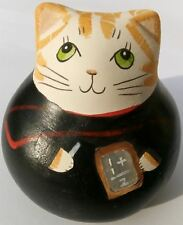 More details for merryfield pottery paperweight teacher - trendy cat