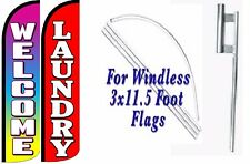 Laundry Welcome Windless Swooper Flag With Complete Kit Pack of 2