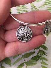 Wind and Fire Volleyball Bangle- Silver