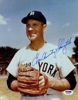 Enos Slaughter Yankees Psa/dna Signed 8x10 Photo Certed Autograph Authentic
