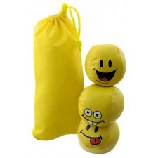 3 gelbe Jonglierbälle und Anti-Streß Bälle mit frechen Gesichtern -NEU-
