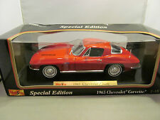 MAISTO 1/18 SPECIAL EDITION RED 1965 CHEVY CORVETTE  **DAMAGED BOX**