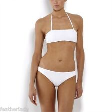 La Redoute womans ladies OFF WHITE ruched lined bikini set UK 8 EU 36 NEW