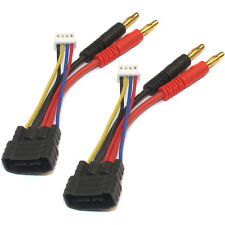 3s ID Charger Adapter: Traxxas ID Male to 4mm bullet for 3S packs (2 adatpers)