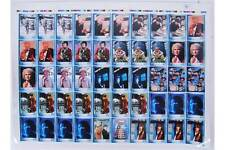DR WHO trading cards: A rare uncut  sheet of Strictly Ink 201