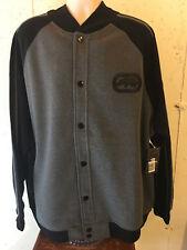 New Ecko Unltd Big and Tall Fleece Bomber Jacket Coat 5XB 5XL 5X Charcoal Black