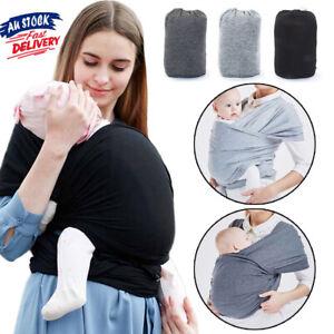 Baby Sling Adjustable Wrap Carrier Infant Breastfeeding Pouch Newborn Nursing AU
