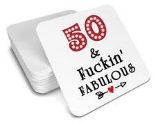 50th birthday coaster Fuckin' Fabulous! funny/gift idea for men/women/gift/drink